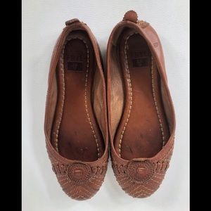 Frye Womens 5.5 Leather Flats